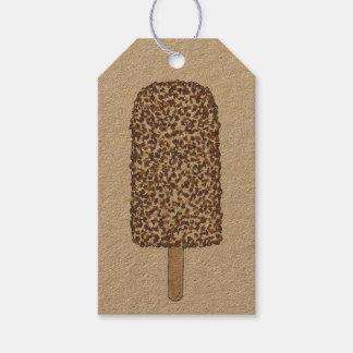 ブラウンチョコレートEclairのアイスクリームのアイスキャンデーのラベル ギフトタグ