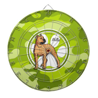 ブラウンピット・ブル; 若草色の迷彩柄、カムフラージュ ダーツボード