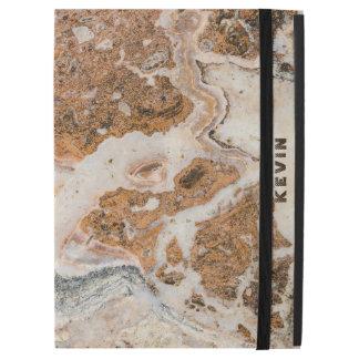 """ブラウン及びベージュ大理石の石 iPad PRO 12.9"""" ケース"""