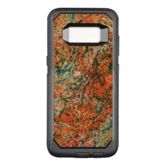ブラウン及び緑の自然な大理石の質 オッターボックスコミューターSamsung GALAXY S8 ケース