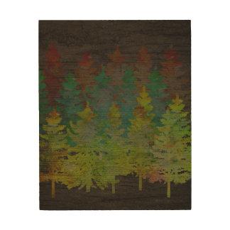 """ブラウン木、8""""のマツ森林x10""""木製の壁の芸術 ウッドウォールアート"""