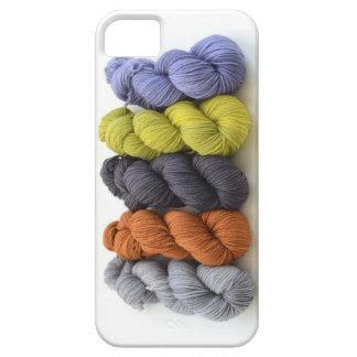 ブラウン灰色の青緑ヤーンはiPhone 5の箱を着色します iPhone 5 ケース