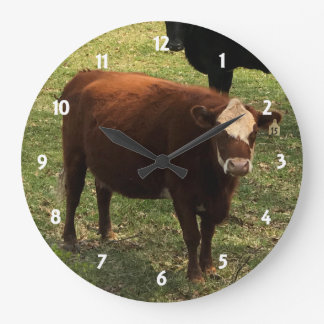 ブラウン牛柱時計 ラージ壁時計