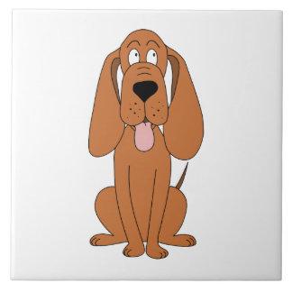 ブラウン犬の漫画。 猟犬 タイル