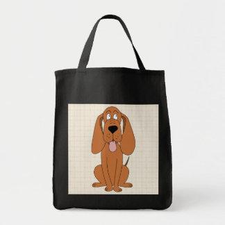 ブラウン犬の漫画。 猟犬 トートバッグ