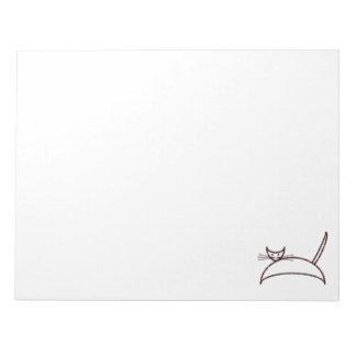 ブラウン猫のメモ帳 ノートパッド
