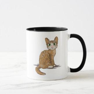 ブラウン猫の絵 マグカップ