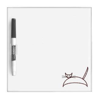 ブラウン猫板 ホワイトボード