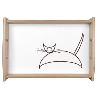 ブラウン猫 トレー