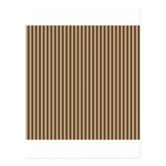 -ブラウン2 -カーキ色および焦茶を縞で飾ります ポストカード