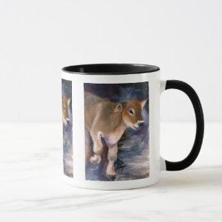 ブラウン・スイスの子牛のマグ マグカップ