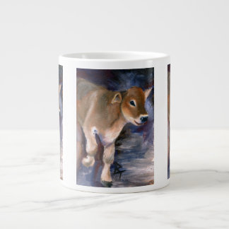 ブラウン・スイスの子牛の専門のマグ ジャンボコーヒーマグカップ