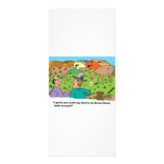 ブラウン・スイスの牛についての農業の漫画のユーモア ラックカード