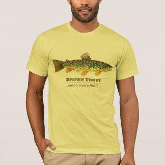 ブラウン・トラウトのラテンの魚類学 Tシャツ