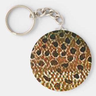 ブラウン・トラウトの魚の皮のプリント キーホルダー