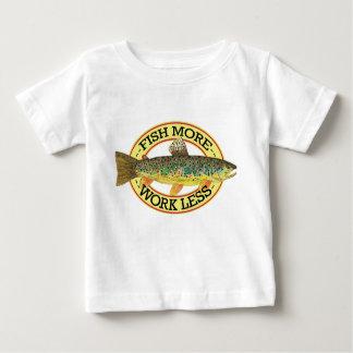 ブラウン・トラウトの魚釣り ベビーTシャツ