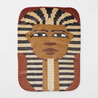 ブラウンCrochet Print古代エジプトのファラオ王 バープクロス