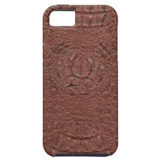 ブラウンHornback Crocの皮、スタイル2 iPhone SE/5/5s ケース