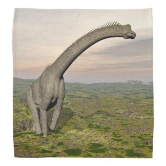 ブラキオサウルスの恐竜の歩く- 3Dは描写します バンダナ