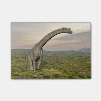 ブラキオサウルスの恐竜の歩く- 3Dは描写します ポストイット