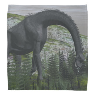 ブラキオサウルスの恐竜の食べ物のシダ- 3Dは描写します バンダナ