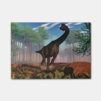 ブラキオサウルスの恐竜- 3Dは描写します ポストイット