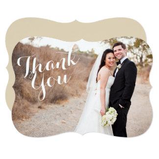 ブラケットの結婚式の写真カードありがとう カード