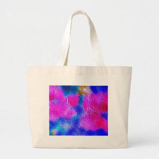 ブラシの打撃のペンキの創造的なデジタル明るいピンク ラージトートバッグ
