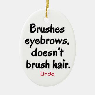 ブラシの眉毛は、毛のオーナメントにブラシをかけません セラミックオーナメント