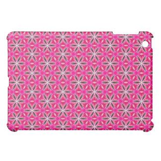 ブラシをかけられたピンクの花弁の破烈の緑の薄い破烈 iPad MINIカバー