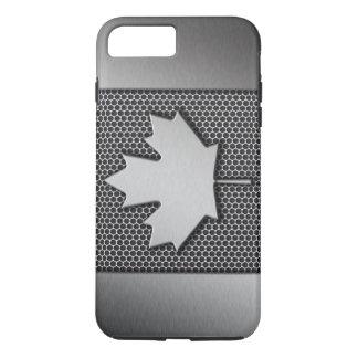 ブラシをかけられた金属のカナダ人の旗 iPhone 8 PLUS/7 PLUSケース