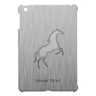 ブラシをかけられた金属の一見の馬 iPad MINIケース