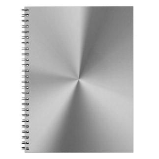 ブラシをかけられた金属 ノートブック