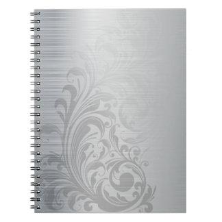 ブラシをかけられた銀の渦巻 ノートブック
