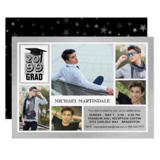 ブラシをかけられた銀製の卒業生 の5写真 カード