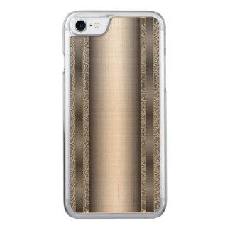 ブラシをかけられた鋼板との中世Chainmail Carved iPhone 8/7 ケース