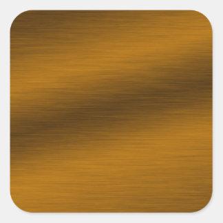 ブラシをかけられた青銅色の背景 スクエアシール