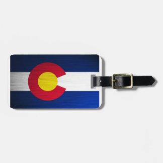ブラシをかけられるコロラド州の旗 ラゲッジタグ