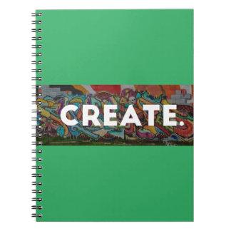 ブラシをかけられる落書きはノートを作成します ノートブック