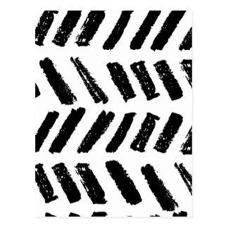 ブラシストロークスラッシュパターン ポストカード