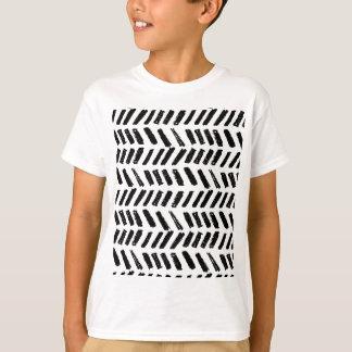 ブラシストロークスラッシュパターン Tシャツ