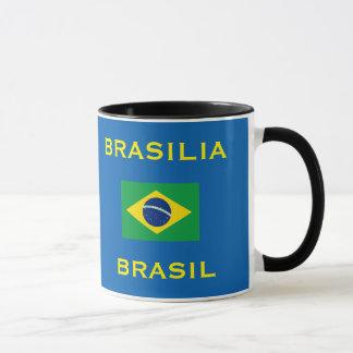 ブラジリアブラジルのクラシックなマグ    Caneca deブラジリア マグカップ