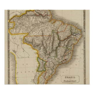 ブラジルおよびパラグアイ ポスター