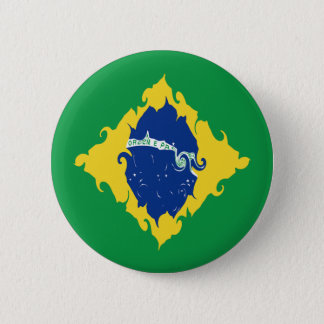 ブラジルのすごい旗 5.7CM 丸型バッジ