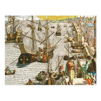 ブラジルのためのリスボンからの出発 ポストカード