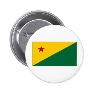 ブラジルのエーカーの旗 5.7CM 丸型バッジ