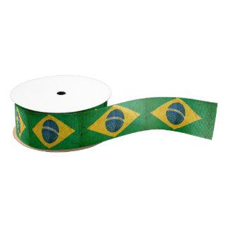 ブラジルのカスタムのリボンのグランジな旗 グログランリボン