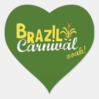 ブラジルのカーニバルのooah! ハート型シール