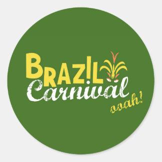 ブラジルのカーニバルのooah! 丸型シール