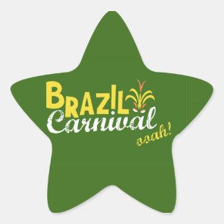 ブラジルのカーニバルのooah! 星形シールステッカー